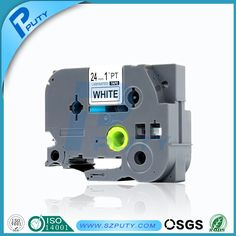 Compatible brother label printer tze tape 24mm tze 251 tze-251 tze251 black on white for p-touch label tape maker