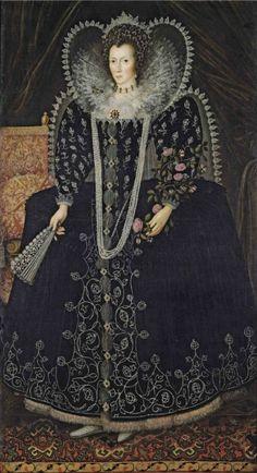Portrait de Frances Howard, comtesse douairière de Kildare, plus tard baronne Cobham, 1595-1610 artiste de l'école anglaise