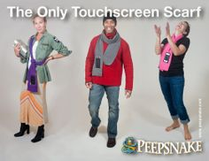 The original patent-pending touchscreen pocket scarf invented by a mom of 3 boys, who after dropping her precious iPhone in the mud, came up with a fumble-free solution.