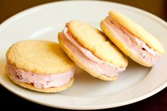 Big Lemon Sugar Cookies that can be used for these ice cream sandwiches