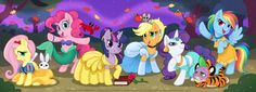 Disney Princess My Little Ponies- pretty much everything that is good in the world