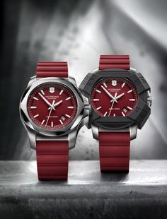 I.N.O.X., the superlative all-terrain watch is now evolving into Victorinox Swiss Army's core collection—first with blue, black and green models, and now with I.N.O.X. red.  # 23 March 2015 | source www.victorinoxwatches.com