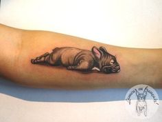 The 21 Coolest French Bulldog Tattoo Designs In The World Tattoo Bulldog, Tatoo Dog, French Bulldog Tattoo, French Bulldog Art, 1 Tattoo, Tattoo Shows, Home Tattoo, Dog Tattoos, Animal Tattoos