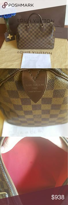 Damier Ebene Speedy 30 Good used condition. No damage but does have signs of wear here and there. Lock and key included only. Louis Vuitton Bags Satchels