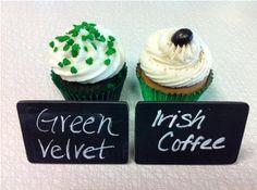 Green Velvet & Irish Coffee cupcakes from Classy Girl Cupcakes