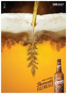 "nice ""Barley"" Bomonti beer shot in Istanbul for 212 Productions. Creative Advertising, Food Advertising, Ads Creative, Advertising Poster, Advertising Design, Advertisement Examples, Beer Advertisement, Poster Print, Poster Design"