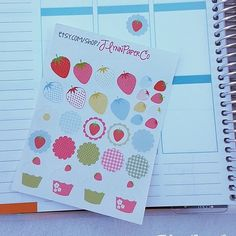 Strawberries and cupcakes sticker sheet! #stickers #plannerstickers #planner #erincondren #erincondrenlifeplanner #eclp #jlynnpaperco #etsy #planneraddict #plannerlove #plannerjunkie #valentines #valentinesday #strawberry #strawberries #cupcake #cupcakes