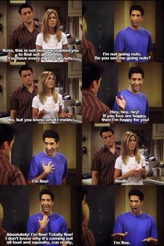 Joey, Rachel and Ross