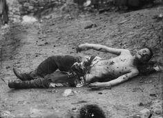 The Dead Body of Vassilios Maleganos, Greek Teacher Killed by Bulgarians by Leonidas Papazoglou