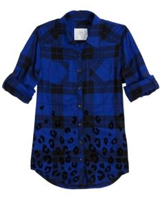 Plaid & Animal Print Shirt -I got this yesterday at justice! It looks way better on me and in real life than this pic :) Crop Tee, Tank Shirt, Katies Fashion, Animal Print Shirts, Girl Outfits, Cute Outfits, Shirt Shop, Clothes For Sale, Kids Shirts