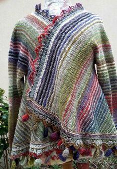 Veste Manali tricotée et crochetée par Jeannette ( une martienne du tricot et crochet ! )