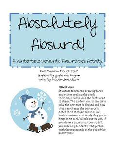 Absolutely Absurd! Winter Semantic Absurdities