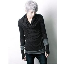New Fashion Mens Slim Fit Cotton Personalized Long Sleeves Casual Dance T-shirts