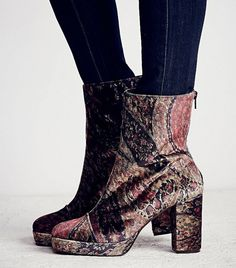 Free People Day For Night Platform Ankle Boots