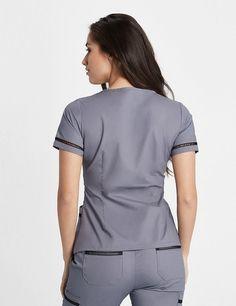 Modern Scrubs and Lab Coats for Men and Women by Jaanuu Cute Nursing Scrubs, Cute Scrubs, Nursing Clothes, Healthcare Uniforms, Medical Uniforms, Nursing Uniforms, Scrubs Uniform, Scrubs Outfit, Women Church Suits