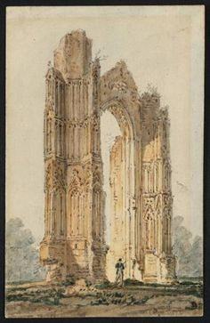 Part of the Ruins of Walsingham Priory - Girtin Thomas