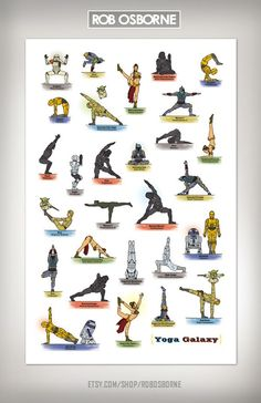 Star Wars in various Yoga Positions.