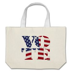 "VOTE ""V O T E"" with US FLAG Tote Bags    •   This design is available on t-shirts, hats, mugs, buttons, key chains and more   •   Please check out our others designs at: www.zazzle.com/ZuzusFunHouse* #vote"