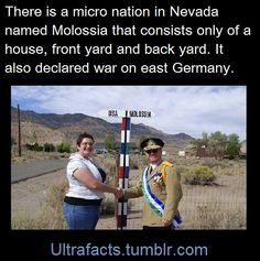 natelehay:ultrafacts:  Source Follow Ultrafacts for more facts  This is glorious.  Also, they have a NavyAnd an infantryhttp://www.molossia.org/navy/
