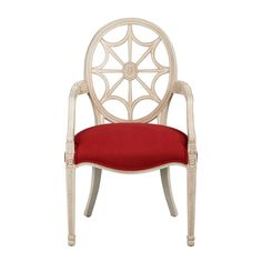 Cristal Chair - Ethan Allen US -- love this. Raspberry body, solid seat