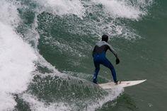 Surfing in Cornwall. Newquay Towan beach