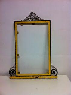 decoración vintage, antiguitats-baraturantic: espejo de hierro