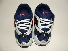 Beautiful pair of boy tennis shoes    BRAND NEW in box!    From: NIKE  Color: Blue, Black and Red    Size: 8.5 (Toddler)