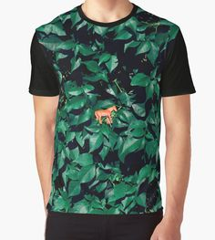 Graphic T-Shirts Orange horse in the bush by josemanuelerre