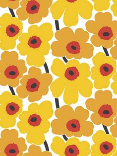 Marimekko Pieni Unikko Wallpaper 17900 Home Deco bold print wallpaper Marimekko Pieni Unikko wallpaper Painting Wallpaper, Print Wallpaper, Pattern Wallpaper, Iphone Wallpaper, Wallpaper Shops, Retro Pattern, Pattern Design, Textures Patterns, Print Patterns