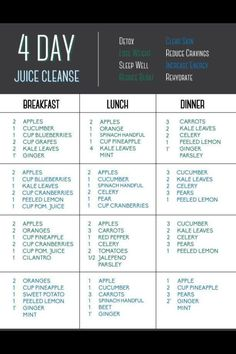 4 day juice cleanse                                                                                                                                                     More