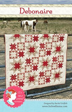 This quilt is lovely in red, but I think I'll do mine in deep blues.  Pattern Play with the Fat Quarter Shop! - Fat Quarter Shop's Jolly Jabber