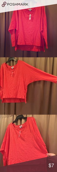 💥Orange Long Sleeve💥 Long sleeve. Cotton. Bright orange. Old Navy. Large. Old Navy Tops Tees - Long Sleeve