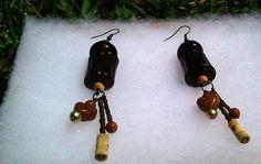 Dangle Brown Medium Earrings Pecan by PrettyGurlPink on Etsy, $12.99