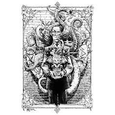 Η..P.Lovecraft by Lukas Ketner Art