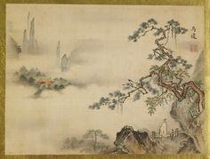 Isen'in Hoin Eishin (Japanese, 1775-1828) Landscape 1816-28(Edo) http://art.thewalters.org/viewwoa.aspx?id=28979