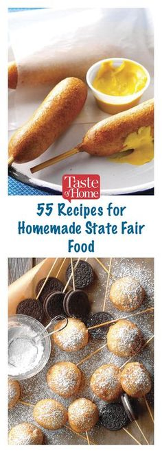 60 State Fair Foods You Can Recreate at Home food menu State Fair Party, State Fair Food, Deep Fryer Recipes, Carnival Food, Carnival Eats Recipes, Copykat Recipes, Good Food, Yummy Food, Fair Foods