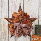 Autumn leaves barn star