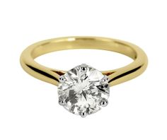This gorgeous diamond is a 1.81carat GIA Certified Diamond. 18ct Yellow Gold Solitaire Brilliant Cut Diamond Engagement Ring 24827 From Berry's Jewellers