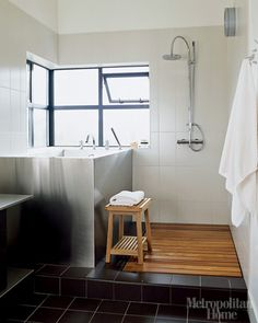 Japanese soaking tub with shower idea