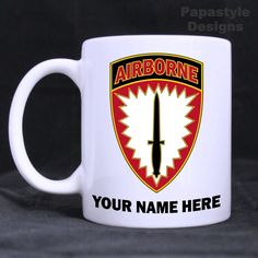 US Army Special Ops Command Europe Personal 11oz Coffee Mugs Made in USA. #Handmade