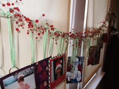 a. party style: garland christmas card display