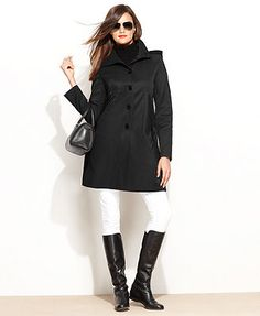 DKNY Coat, Hooded Raincoat