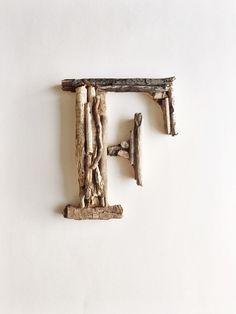 Driftwood Letter, Letter F, Woodland Nursery, Wood Letter, Rustic Wood Letter, Nursery Wall Letter, Wood Sign, Driftwood Sign, Woodland by IronandTides on Etsy https://www.etsy.com/listing/260671709/driftwood-letter-letter-f-woodland