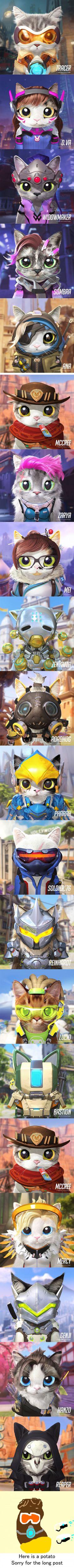 Overwatch kitties (sugarcatcandydoggie)