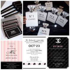For the sophisticated, fashion obsessed bride-to-be, the perfect hen party theme is Chanel! Here's how to throw the ultimate glam French bridal shower. Hens Night Invitations, Bridal Shower Invitations, Party Invitations, Invitation Ideas, Invitation Templates, Chanel Bridal Shower, Chanel Wedding, Chanel Birthday Party, Chanel Party