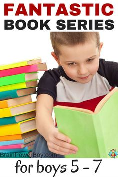 11 book series that are totally perfect for getting boys age 5 - 7 hooked on books. Introduce your boy to a new series today. Best Gifts for Kids 5 - 7 Book Series For Boys, Books For Boys, Childrens Books, Educational Activities, Learning Activities, Learning Time, Summer Activities, Kids Reading, Reading Lists