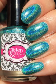 ehmkay nails: Glisten & Glow Cocktails Anyone? Polishes: Hypnotiq Hurricane and Midori Sour