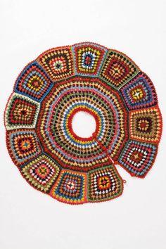 ¡Miren esta hermosa falda de Cuadros de crochet!