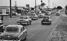 Traffic in St. Petersburg, Florida, 1952