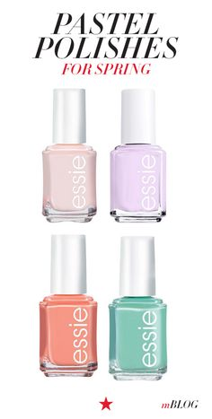 Give your nails a Spring awakening! Love all these pretty pastel shades for totally on-trend tips.